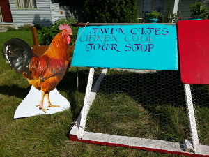 welcome sign Twin Cities Chicken Coop Tour