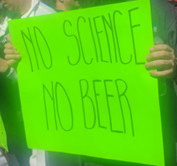 ScienceMarch StPaul poster no science no beer