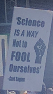 ScienceMarch StPaul poster quote Carl Sagan science is a way not to fool ourselves