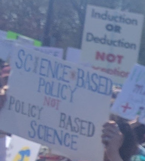 ScienceMarch StPaul poster science based policy not policy based science