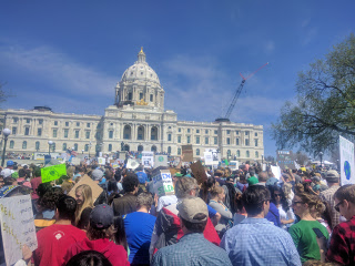 ScienceMarch StPaul rally at capitol steps