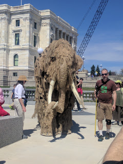 ScienceMarch StPaul woolly mammoth front view