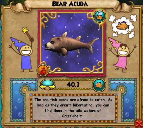 fish Grizzleheim Bear Acuda