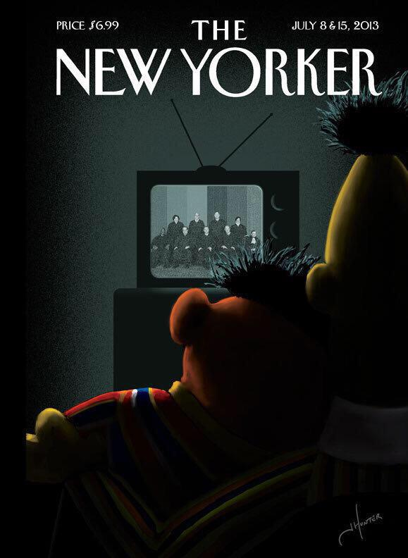 Bert and Ernie watching television supreme court