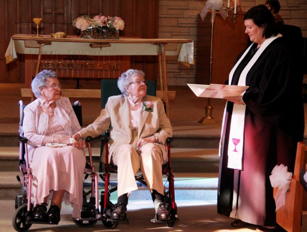 lesbians marry after 72 years together