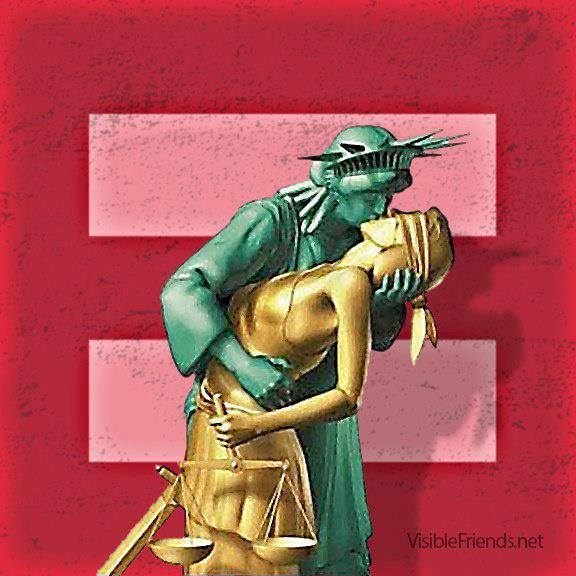 Liberty kissing Justice