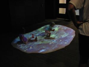 aquarium projected water for kids to splash