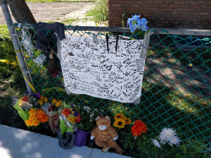 memorial at Logan and 26th in Jordan of Minneapolis