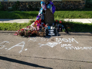 memorial at Newton and 30th in Jordan of Minneapolis