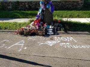 memorial at Newton and 30th in Jordan of Minneapolis